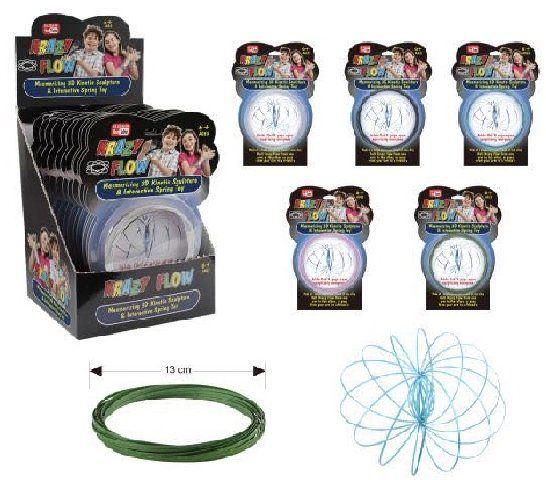 e0e34e1d3ed2a 12 Units of Flow Rings Kinetic Spring Toy Glitter--Display Box - Store - at  - alltimetrading.com