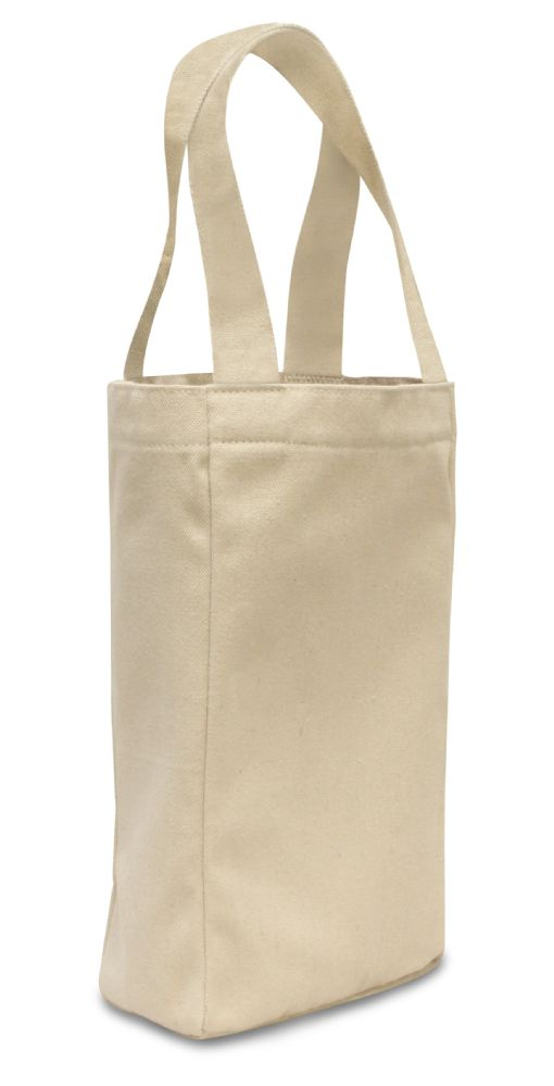 240 Units of Two Bottle Wine Tote- Natural - Tote Bags & Slings