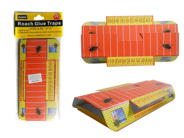 144 Units of 2pc Roach Glue Traps