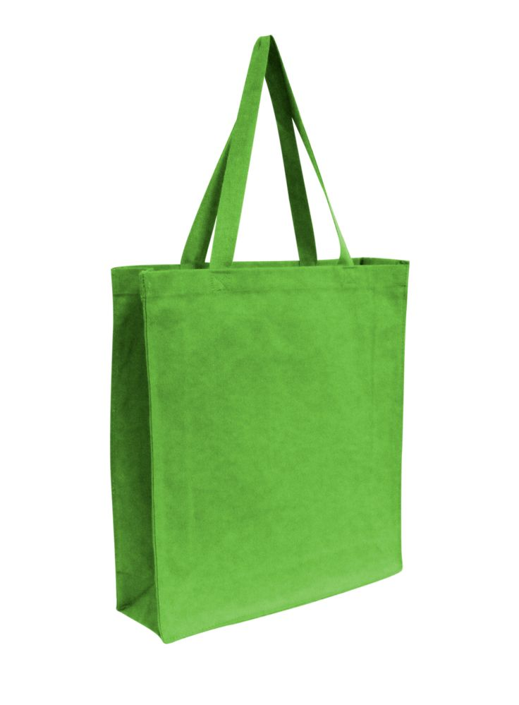 96 Units of Promotional Canvas Shopper Tote-Lime Green - Tote Bags & Slings