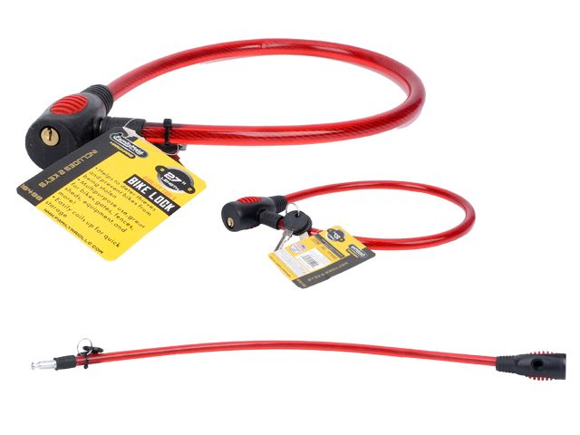 Bike Cable Lock >> 72 Units Of 27 Long Bicycle Cable Lock With 2 Keys Biking At