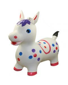 8 Units of INFLATABLE JUMPING WHITE HORSE - Balloons/Balloon Holder