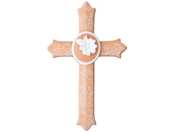 12 Units Of Decorative Fl Ceramic Wall Cross Home Decor