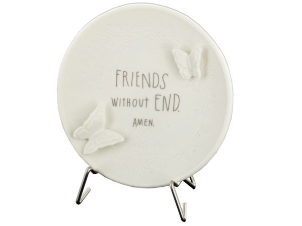 36 Units Of Decorative Porcelain Friends Without End Plate With Stand   Home  Decor   At   Alltimetrading.com