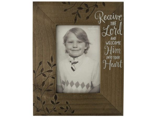 12 Units of Receive the Lord Decorative Wooden Photo Frame - Picture Frames