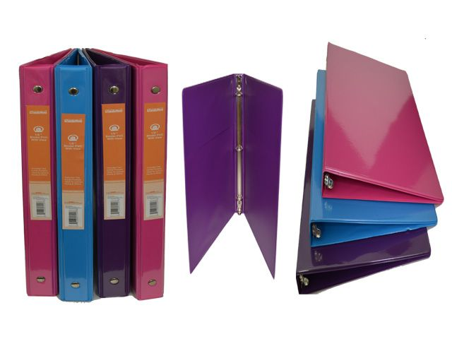 48 units of 1 2 binder with view pockets clipboards and binders