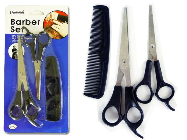 96 Units of 3PC Barber, Hair Cut Set - Hair Accessories
