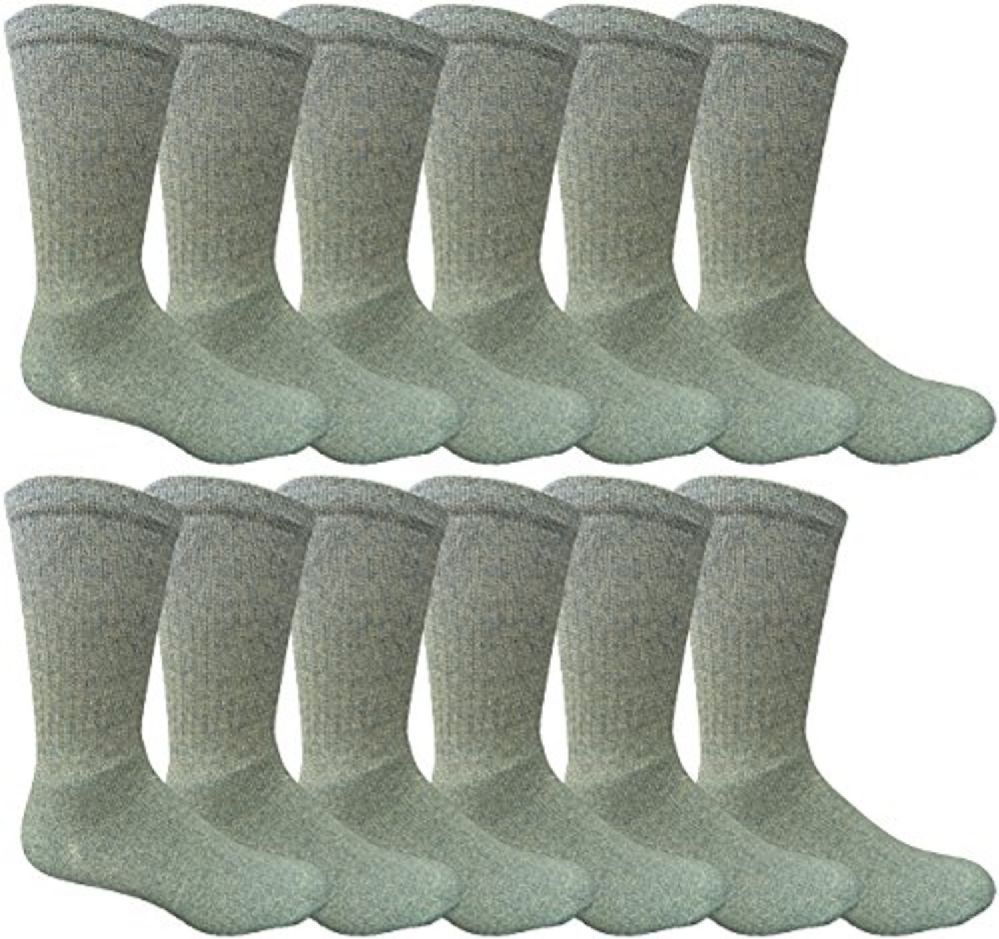 12 Pairs Value Pack of Wholesale Sock Deals Mens Ringspun Cotton 2Tone Twisted Socks, Sky Blue - Mens Crew Socks