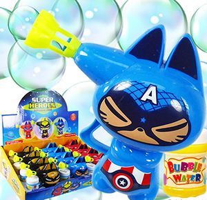 48 Units of Friction Powered Super Heroes Bubble Guns