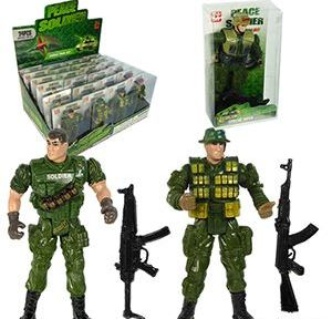 144 Units of 2 Piece Peace Soldiers - Action Figures & Robots