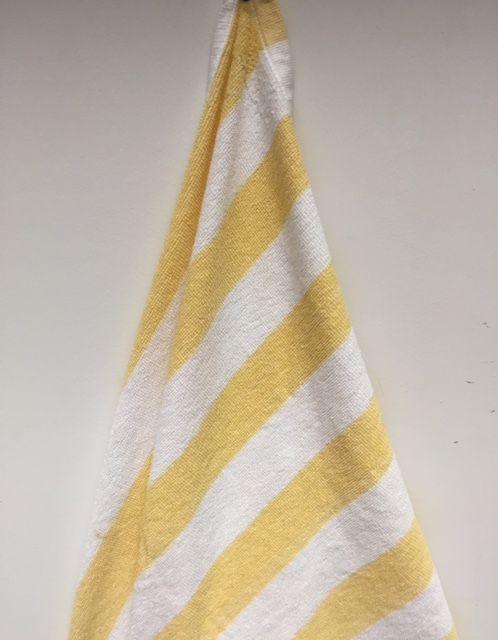 24 Units of Economy Stripe Yellow 30x70 Cabana Beach Towel