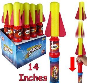 """48 Units of 14"""" Air Rocket Shooters"""