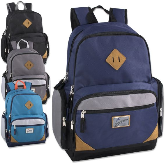 5e53ef45552e 24 Units of Trailmaker 19 Inch Duo Compartment Backpack with Laptop Sleeve  - Backpacks 18