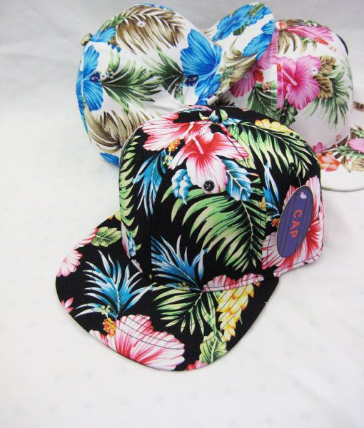 48 Units of Floral Printed BaseBall Cap - Baseball Caps   Snap Backs - at -  alltimetrading.com a5a9c2aa9188
