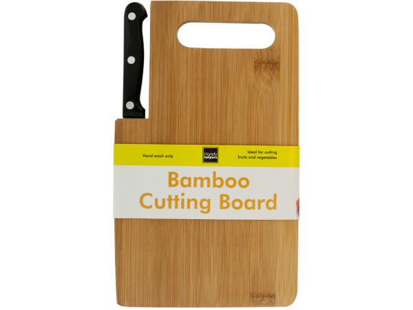 24 Units of Bamboo Cutting Board with Built-In Knife - CUTTING BOARDS