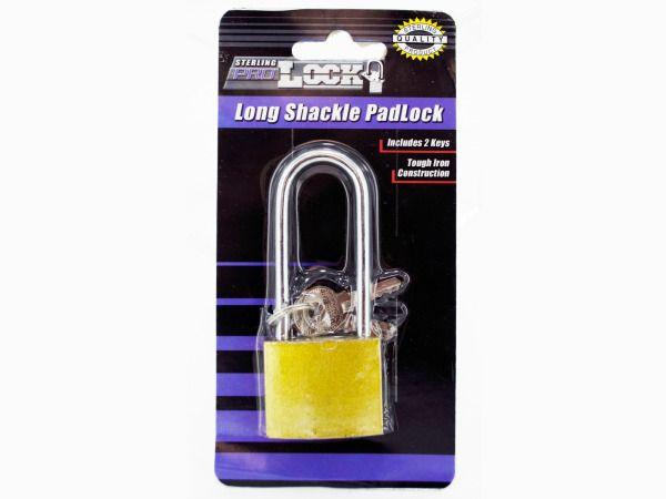 72 Units of Iron Long Shackle Padlock with 3 Keys - PADLOCKS/IRON/BRASS/COMBO
