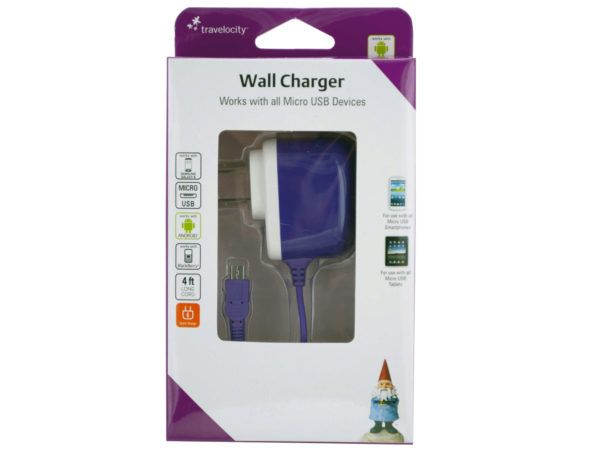 36 Units of Travelocity Micro USB Wall Charger - Cell Phone Accessories