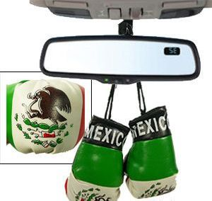 24 Units of Mexico Boxing Glove Mirror Hangers - Auto Accessories