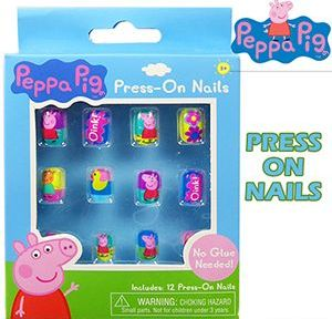 96 Units Of Peppa Pig 12 Pc Press On Nails Manicure And Pedicure Items At Alltimetrading