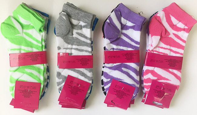 """72 Units of Woman """"WAVE""""short socks/color assorted - Womens Ankle Sock"""