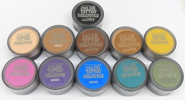 50 Units Of Maybelline Color Tattoo Pure Pigments Eyeshadow Cosmetics
