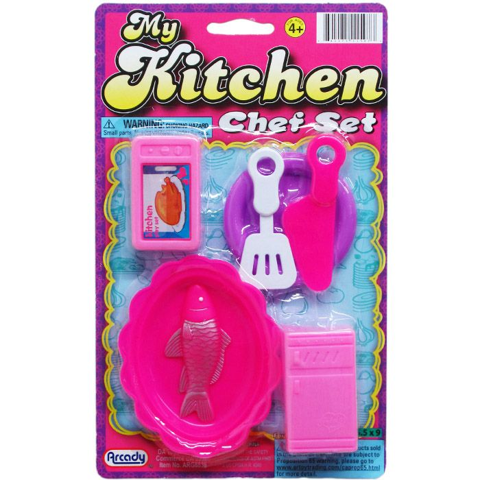 144 Units Of 6pc My Kitchen Chef Set On Blister Card 2 Assrt