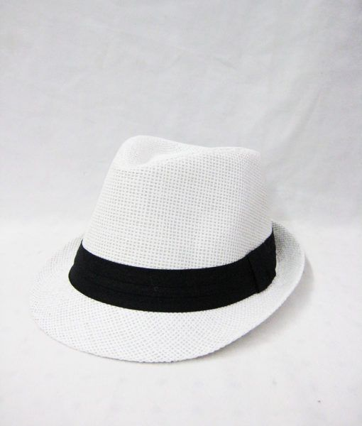 d37597096 36 Units of Straw Fedora Hat White & black - Fedoras, Driver Caps & Visor