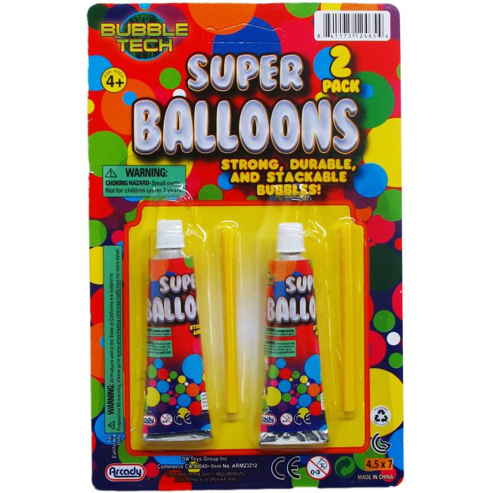 """144 Units of 2PC 3.25"""" SUPER BALLOONS ON BLISTER CARD - Balloons/Balloon Holder"""