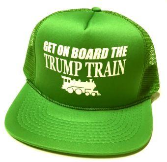 24 Units of Get On Board the Trump Train Mesh Caps - Kelly green - Baseball  Caps   Snap Backs - at - alltimetrading.com f7b7d89b92b