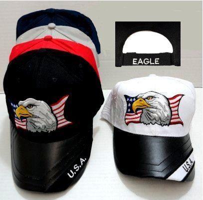 b5964ddc0aa20 12 Units of Eagle Embroidered cap - Baseball Caps   Snap Backs - at -  alltimetrading.com