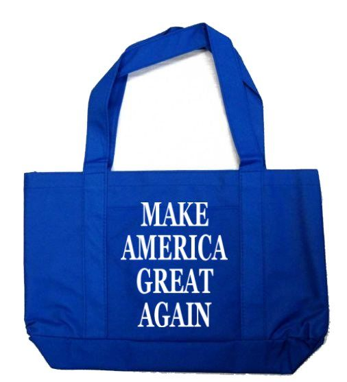 12 Units of Make America Great Again Tote Bags In Royal Blue - Tote Bags & Slings