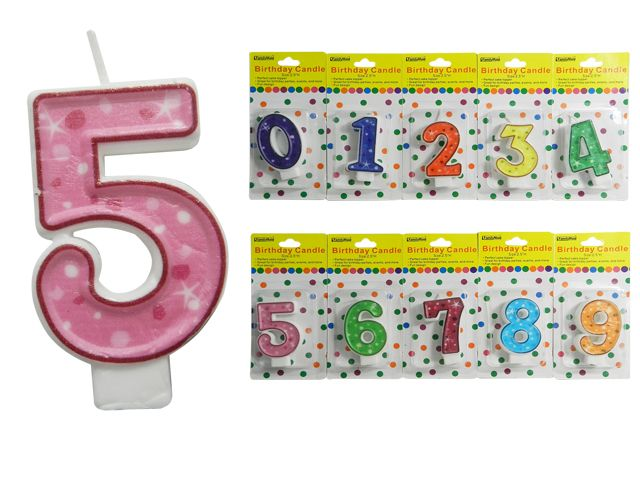 144 Units Of Happy Birthday Candle Number Size 25 H