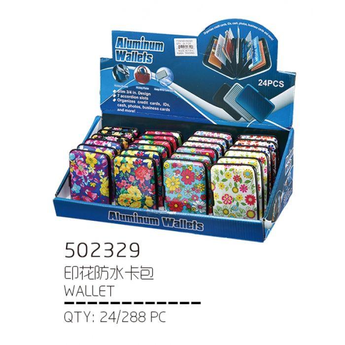 72 Units of Floral Print Aluminum Wallet / Card holder - CARD ...
