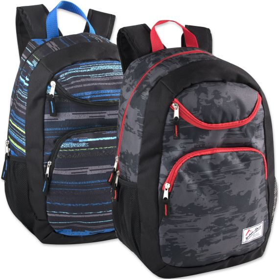 fcb5476b9418 24 Units of Urban Sport 18 Inch U Pocket Backpack - Printed - Backpacks 18