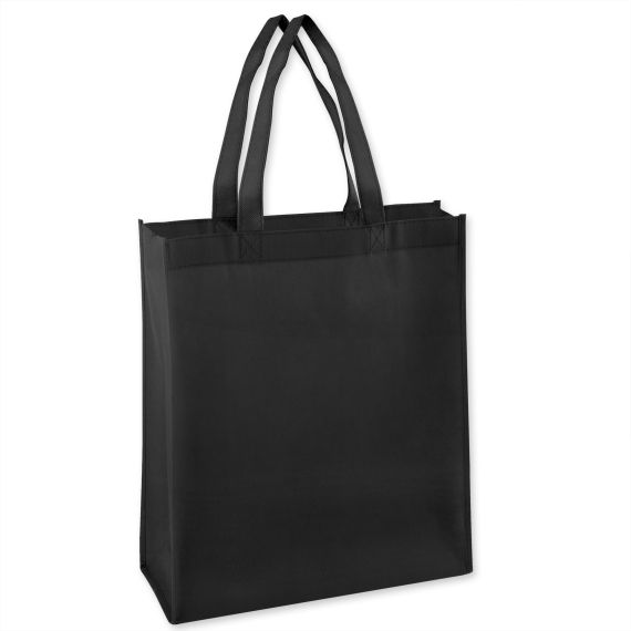 100 Units of 15 Inch Grocery Tote Bag - Black Color Only - Tote Bags & Slings
