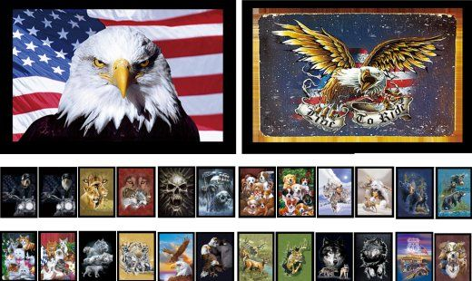 50 Units of Framed 3D Picture Assortment - Picture Frames