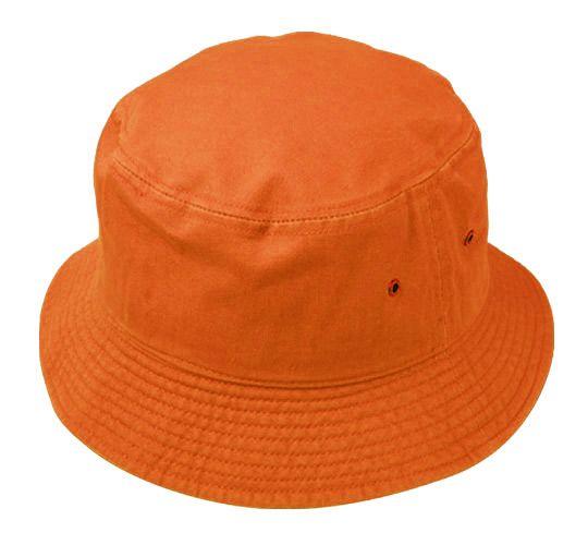 3a1cb02fa53 12 Units of PLAIN COTTON BUCKET HATS IN ORANGE - Bucket Hats - at -  alltimetrading.com