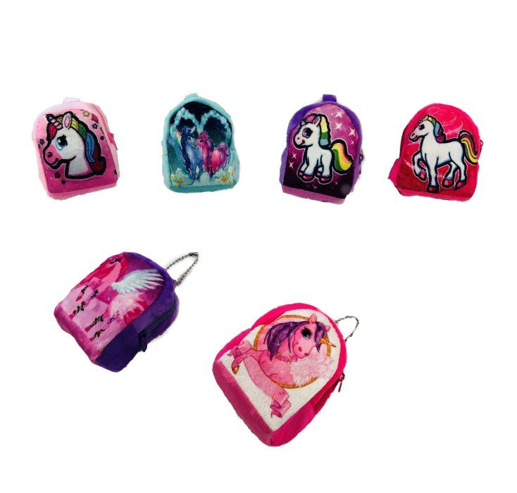 "72 Units of 3.5""x3"" Unicorn Change Purse (Mini Backpack Style) - Leather Purses and Handbags"