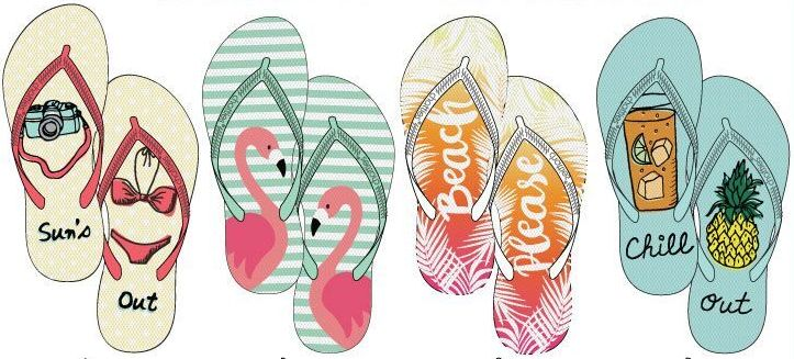 b51c11cafaca4 72 Units of Ladies Fashion Printed Flip Flops