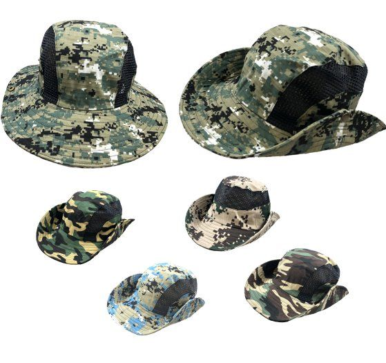 12 Units of VENTED BOONIE HAT  ASSORTED CAMO  - Cowboy   Boonie Hat - at -  alltimetrading.com 7d120dd0016