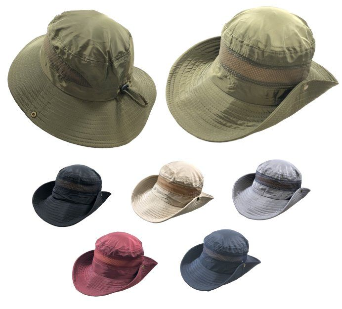 f38e388807e4f 24 Units of Vented Lightweight Adjustable Boonie Hat - Cowboy   Boonie Hat  - at - alltimetrading.com