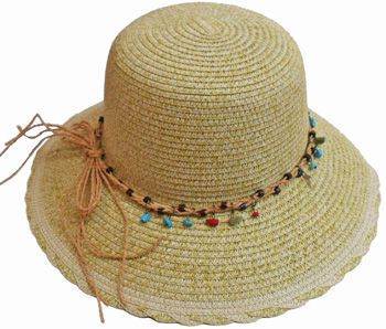 350bc4df136 24 Units of Bucket Hat With Beads Tie - Bucket Hats - at -  alltimetrading.com