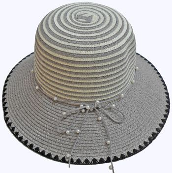 5681f14584be1b 24 Units of Ladies' Hat With Pearl Tie - Sun Hats - at - alltimetrading.com