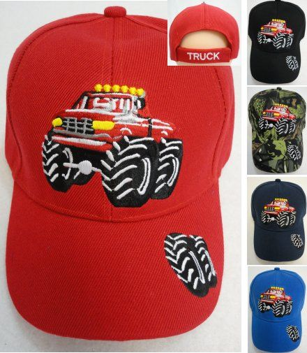 12 Units of Child s Ball Cap  Monster Truck  - Baseball Caps   Snap Backs -  at - alltimetrading.com baef3663e92