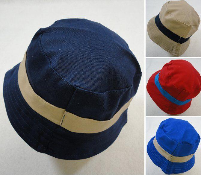 227d418e7e1 12 Units of Child s Bucket Hat  Two-Tone Solid Color  - Bucket Hats - at -  alltimetrading.com