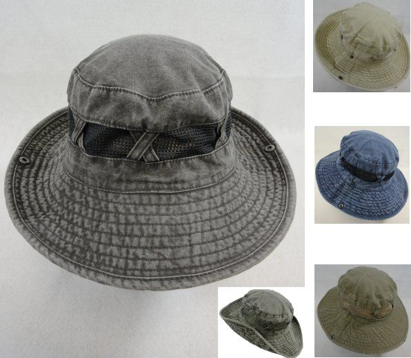 12 Units of Cotton Washed Floppy Mesh Boonie - Cowboy   Boonie Hat - at -  alltimetrading.com f5d5f877d5e