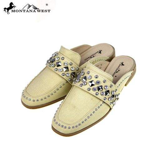 12 Units of Montana West Studs Collection Mule Sold BY CASE - Womens Slippers