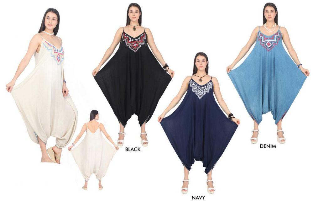 bd9c3659eb0 48 Units of Women s Tie Dye Harem Jumpsuits - Assorted Colors - Size ...