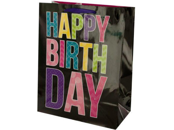 144 Units Of Black Birthday Gift Bag