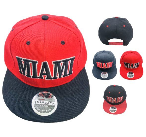 ... purchase 36 units of snap back flat bill hat miami baseball caps snap  backs d0174 ed969 c7a599cf1984